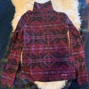 Eddie Bauer Bohemian Print Fleece Pullover